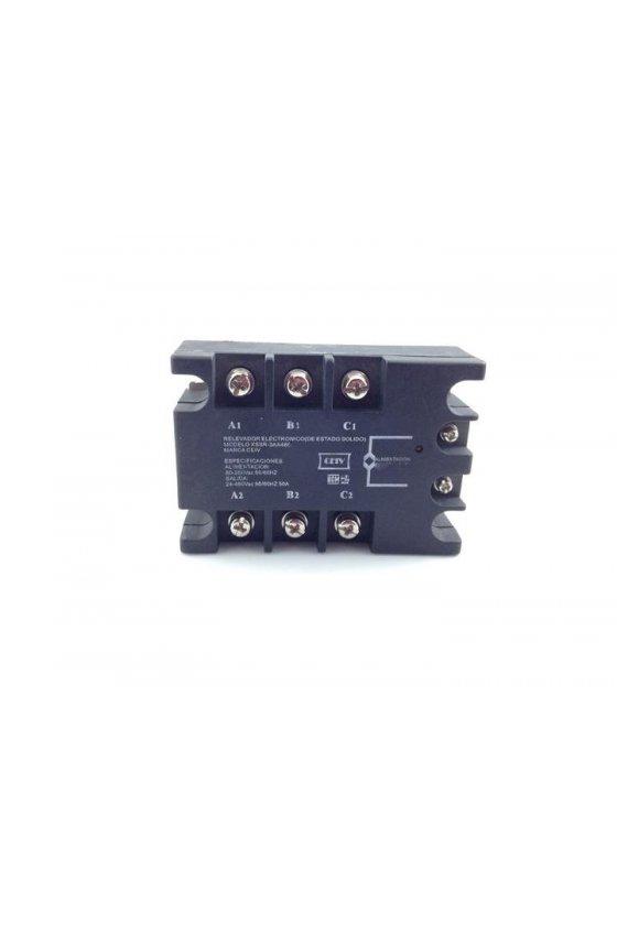 ZR3DA4840 relevador estado solido trifásico  40amp 3-32vdc salida 480vac