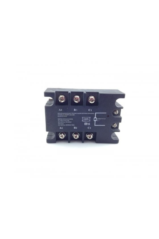 ZR3DA4860 relevador estado solido trifásico  60amp 3-32vdc salida 480vac