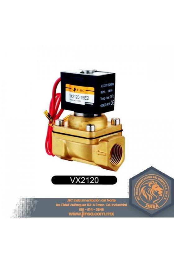 VX2120-08E2 VALVULA SOLENOIDE 1/4 ASIENTOS NBR 0-10KG 220VAC