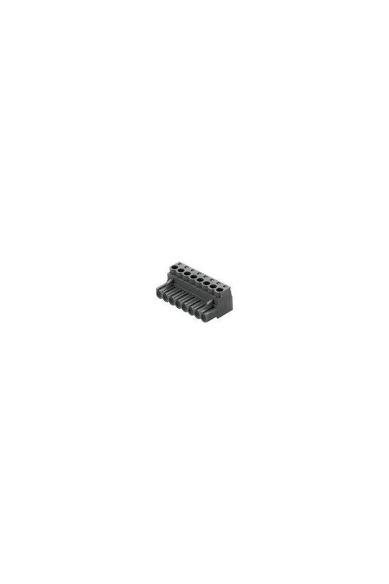 1596110000 Conector para placa c.i., enchufe hembra, 5.00 mm, Número de polos: 8, 180°, BLZ 5.00/08/180 SN BK BX