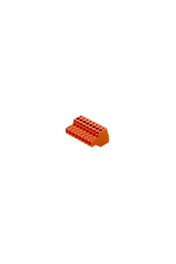 1597460000 Conector para placa c.i., enchufe hembra, 3.50 mm, Número de polos:12, 180°, CAJA, BL 3.50/12/180 SN OR BX