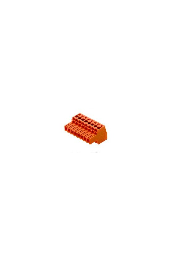 1597480000 Conector para placa c.i., enchufe hembra, 3.50 mm, Número de polos: 14, 180°, BL 3.50/14/180 SN OR BX