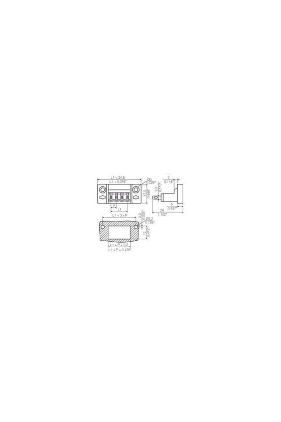 1599160000 Conector para placa c.i., enchufe MACHO, 5.08 mm, Número de polos: 5, 180°, SLDF 5.08 L/F 5 SN OR BX