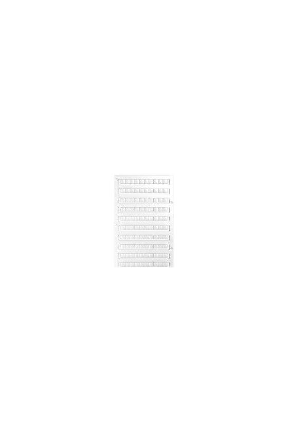 1609880000 WS, Terminal marker, 15 x 5 mm, Paso en mm (P): 5.00 Weidmueller, Allen-Bradley, blanco, WS 15/5 MC NEUTRAL