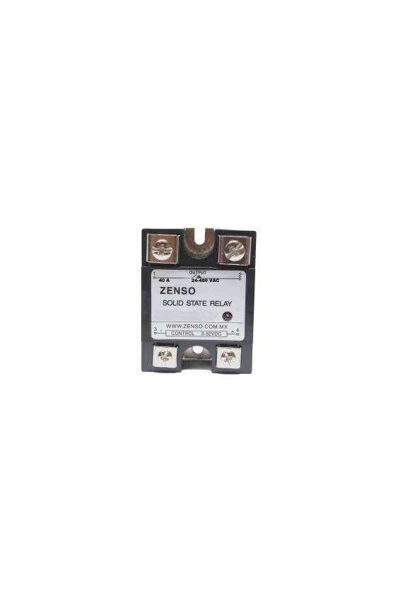 ZRS1DA4880 relevador estado solido 80amp 3-32vdc salida 24-480vac