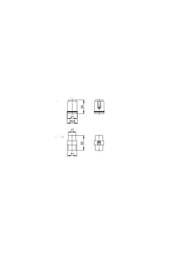 1650580000 HDC - Conector, Hembra, 250 V, 10 A, Número de polos: 7, Conexión crimpada, Grupo: 1, HDC HD 7 FC
