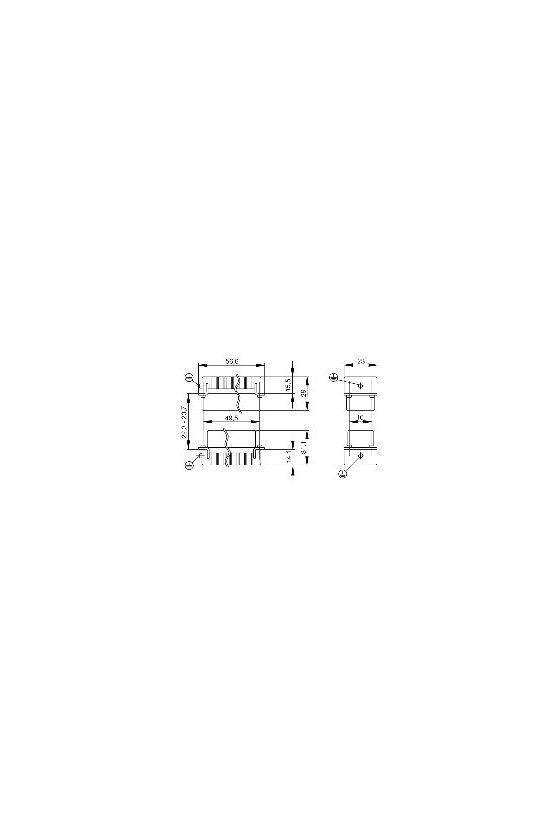 1650620000 HDC - Conector, Hembra, 250 V, 16 A, Número de polos: 10, Conexión brida-tornillo, Grupo: 2, HDC HA 10 FS