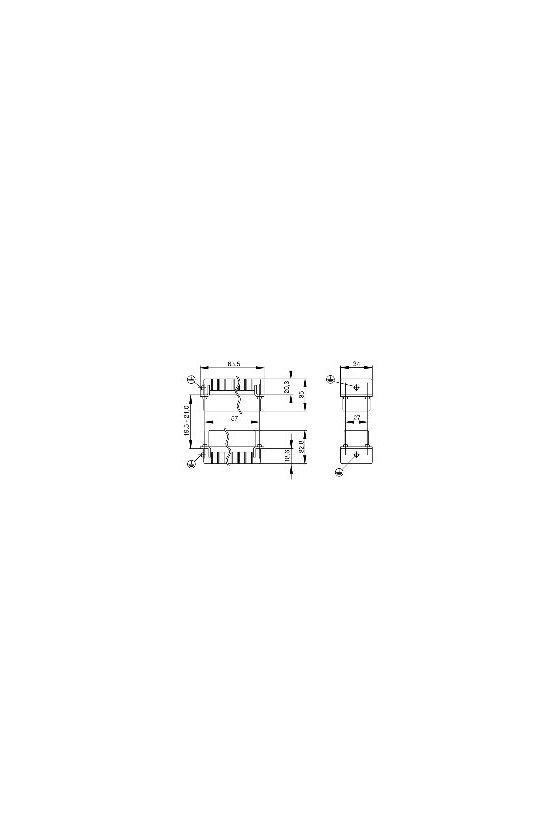 1651170000 HDC - Conector, Macho, 250 V, 10 A, Número de polos: 42, Conexión crimpada, Grupo: 4, HDC HDD 42 MC