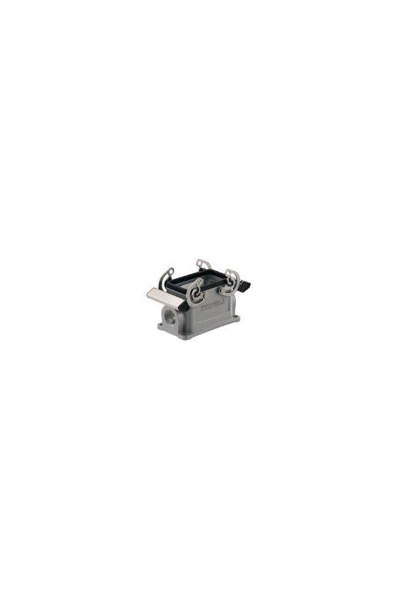 1654450000 cajas, Tipo de protección: IP65, Base cerrada, Enclavamiento lateral en la parte inferior, HDC 24D SBU 2PG21G