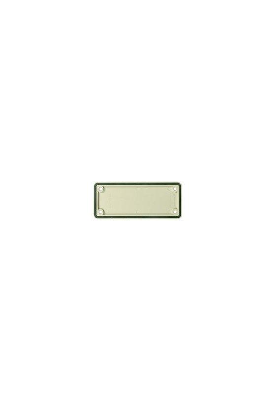 1664390000 Conectores industriales, Accesorios, Placa de cierre, Grupo: 6, Plástico, gris, ABD-6-GR