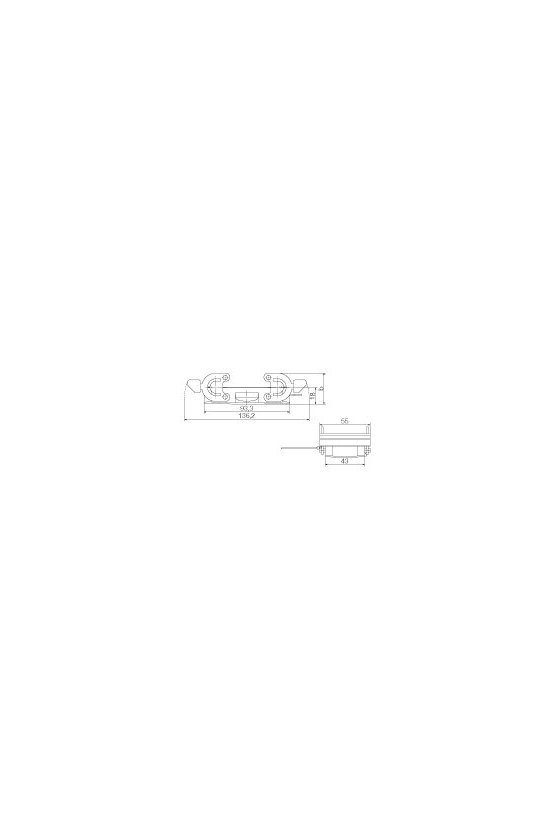 1665270000 cajas, Grupo: 6, Tipo de protección: IP65, Tapa para la parte superior, HDC 16B DMD 2QB