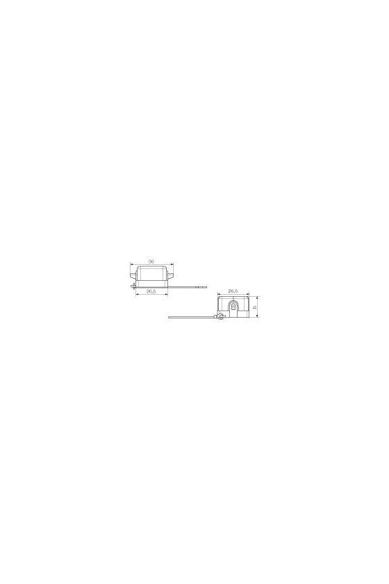 1665750000 cajas, Grupo: 1, Tipo de protección: IP65, Tapa para partes inferiores de la capota, HDC 04A DMDL 2BO