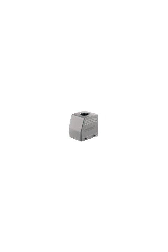 1665790000 cajas, Tipo de protección: IP65, Entrada del cable parte superior, Caja de conector, HDC 32A TOBU 1PG21G