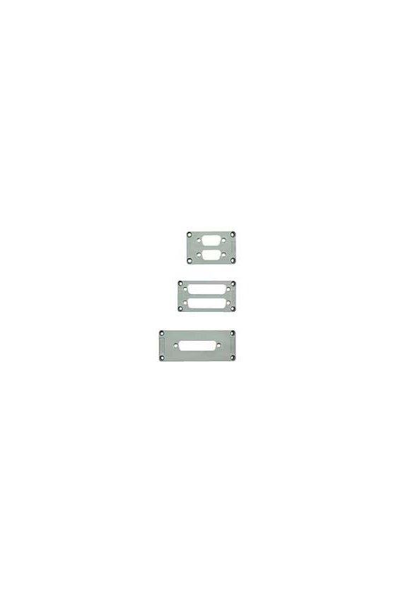 1665940000 Conectores industriales, Accesorios, Placa de adaptador, Grupo: 3, Plástico, gris, 3, ADS/6-1/9