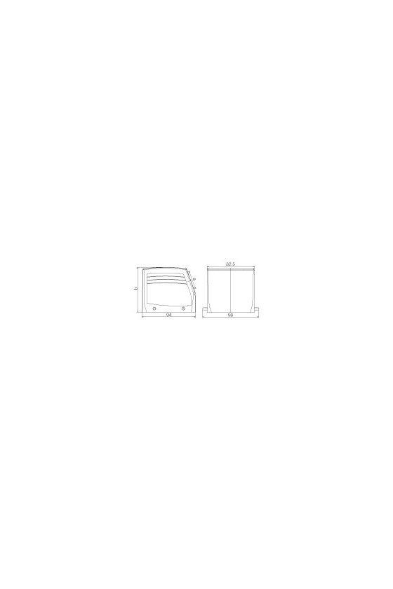 1666840000 cajas, Tipo de protección: IP65, Entrada de cable, lateral, Caja de conector, HDC 32B TSBU 1PG29G