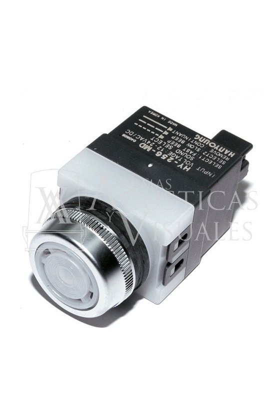 HY256MD Alarma 3 tonos con led 80 dB (1m distancia) 12-24vcd 25mm