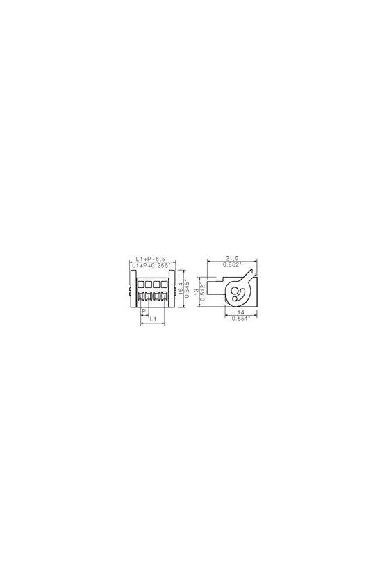 1691960000 Conector para placa c.i., enchufe hembra, 3.50 mm, Número de polos: 18,  BLZF 3.50/18/180LH SN BK BX