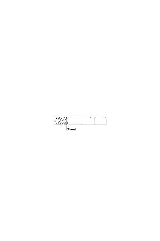 1694100000 SKMU MS (contratuerca de latón), Contratuerca, PG 13,5, 3 mm, laton, niquelado, SKMU PG13.5-MS