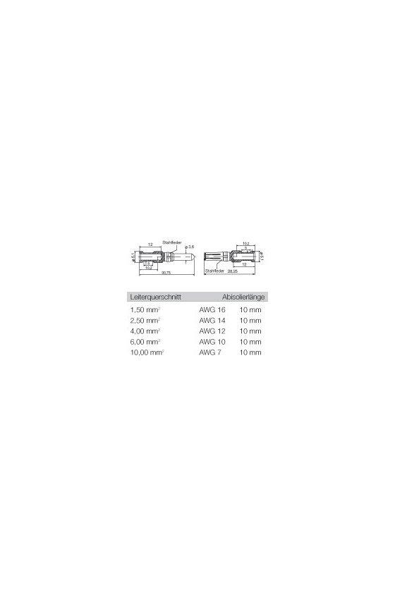 1698150000 Conectores industriales, Contacto crimpado, CM 3, Hembra, HDC-C-M3-BM2.5AG