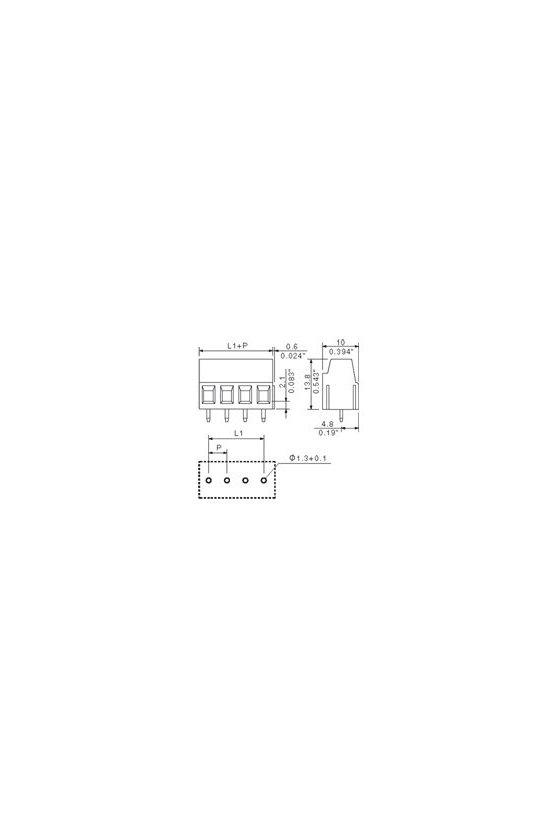 1716080000 Bornes para circuito impreso, 5.08 mm, Número de polos: 2, 90°, estañado, naranja, LM 5.08/02/90 3.5SN OR BX