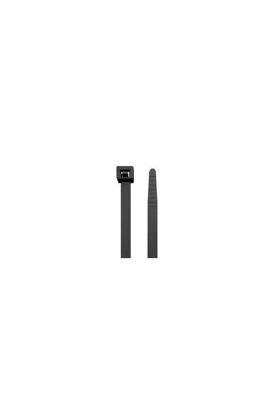 1720660000 Abrazaderas, Alto x ancho: 200 x 3.6 mm, Poliamida 66, 130 N, CB 200/3.6 BLACK