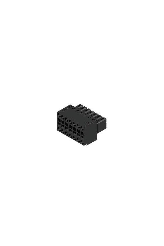1727680000 Conector para placa c.i., enchufe hembra, 3.50 mm, Número de polos: 14, B2L 3.50/14/180 SN BK BX