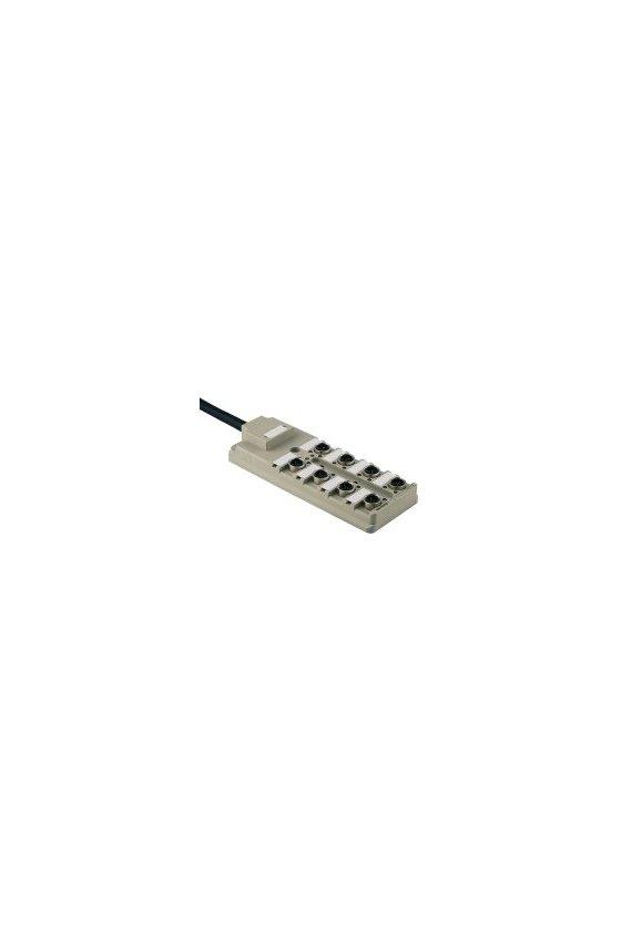 1766700000 SAI pasivo, Distribuidor pasivo para sensores y actuadores, IDC, M12, Versión de cable fijo, SAI-8-F 4P IDC PUR 5M