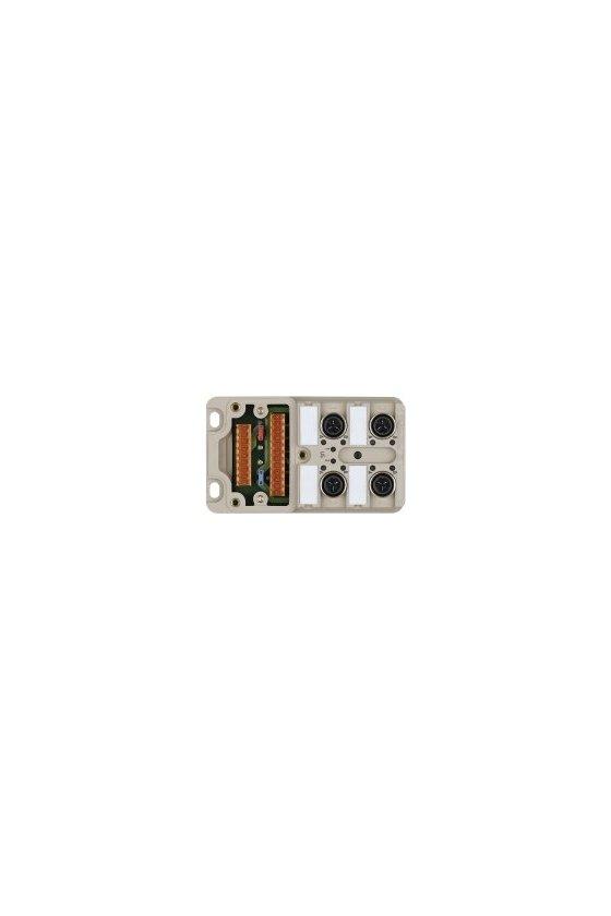 1766781000 SAI pasivo, Distribuidor pasivo para sensores y actuadores, IDC, M12, Versión de capota, SAI-4-M 4P IDC UT