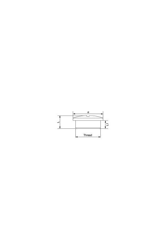1777750000 VPMS (tapón ciego de latón), Tapón, M 25, 7 mm, laton, niquelado, VP M25-MS65