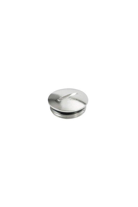 1777790000 VPMS (tapón ciego de latón), Tapón, M 63, 10 mm, laton, niquelado, VPM63-MS65