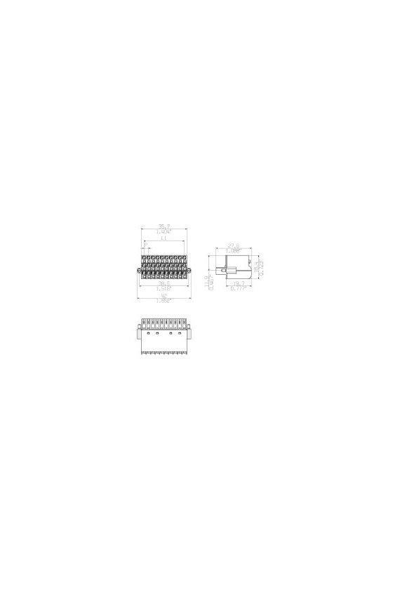 1779920000 Conector para placa c.i., enchufe hembra, 3.50 mm, Número de polos: 30, BL-I/O 3.50/30F SN BK BX