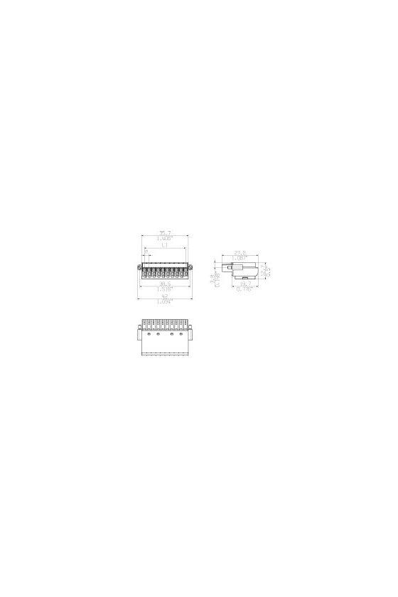 1789090000 Conector para placa c.i., enchufe hembra, 3.50 mm, polos: 10, BL-I/O 3.5/10F PNP LED SW