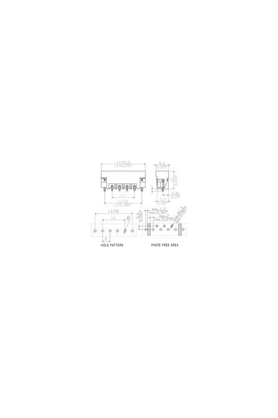 1797950000 Conector para placa c.i., Conector macho, Brida para soldar, 5.00 mm, polos: 4, SL-SMT 5.00/04/180LF 1.5SNBKRL