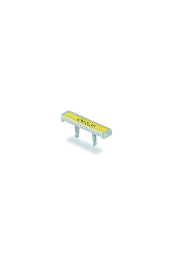 1806120000 EM, Terminal marker, 32.4 x 7.2 mm, Paso en mm (P): 7.20 Weidmueller, transparente, EM 8/30 PARA ET 160772