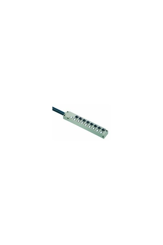 1828680000 SAI pasivo, Distribuidor pasivo para sensores y actuadores, M8, Versión de cable fijo, 5 m, Sí, SAI-8-F 3P M8 L 5M