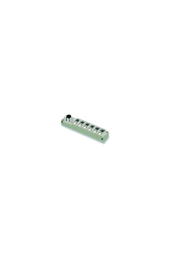 1828730000 SAI pasivo, Distribuidor pasivo para sensores y actuadores, M8, Con salida M12, 8 polos, SAI-6-S 3P M8 L
