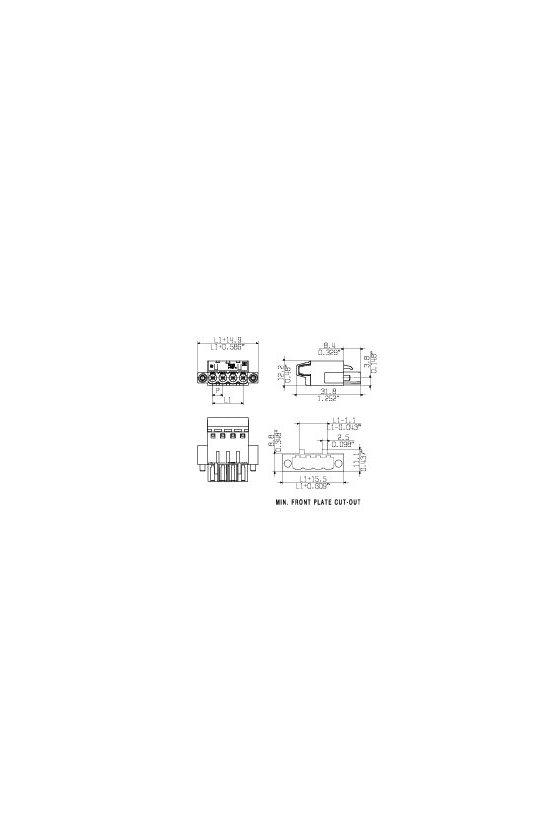 1844150000 Conector para placa c.i., enchufe hembra, 5.08 mm, Número de polos: 18, BLT 5.08/18/180F SN OR BX
