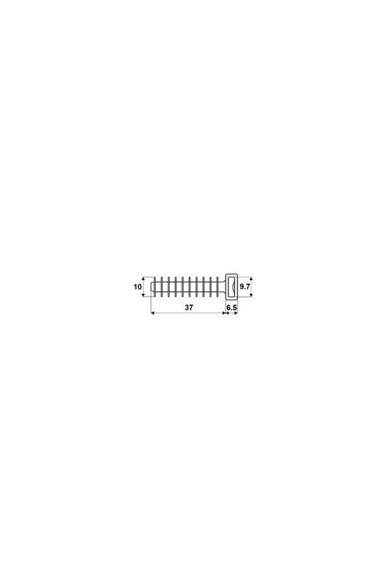 1859410000 CBFP Abrazaderas, Alto x ancho: 10 x 43.5 mm, Plástico, 80 N, 43.5/10 BLACK
