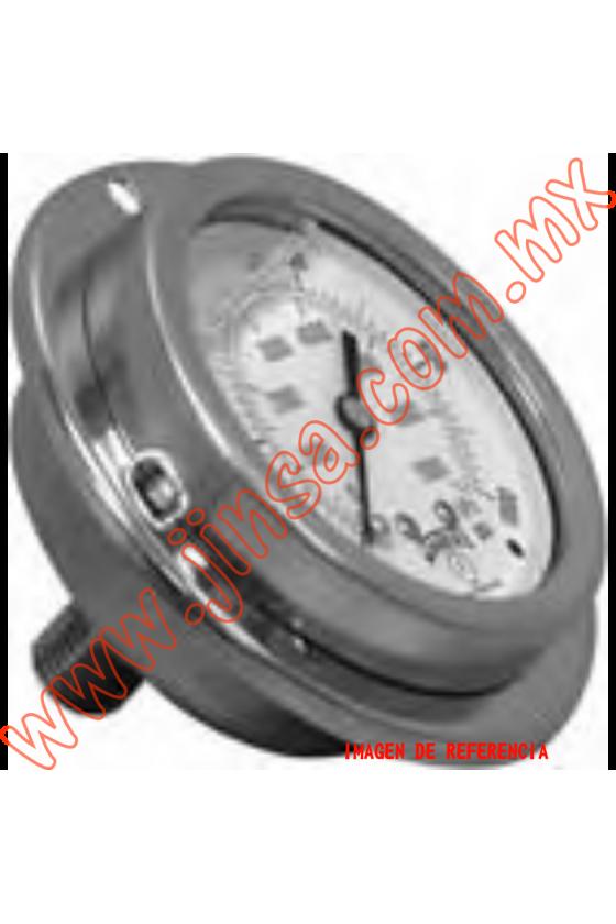 "PFQ1125 MANÓMETRO CON GLICERINA CARATULA DE 1.5"" CONEXION POSTERIOR DE 1/8""  0-160 PSI / 0-11 KG/CM"
