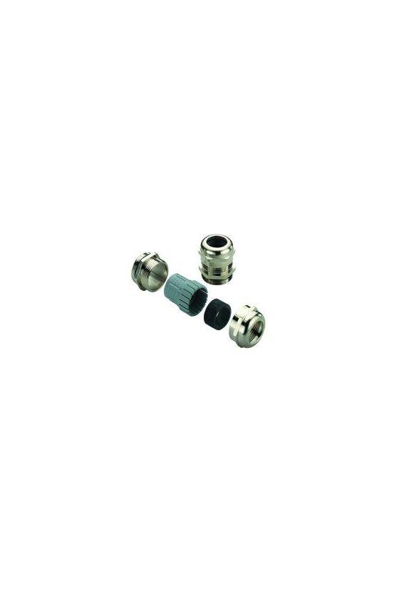 1909930000 Prensaestopas, M 32, 8 mm, OD min. 15 - OD max. 21 mm, IP68 - 5 bar (30 min), laton, niquelado, VG M32-1/MS68