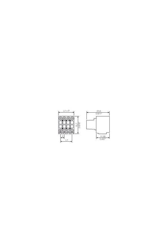 1944640000 Conector para placa c.i., enchufe hembra, 3.50 mm, Número de polos: 16, B2L 3.50/16/180QV8 SN BK BX