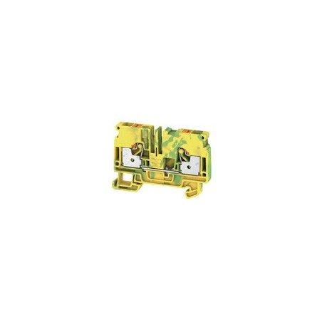 1991810000 Borne de tierra, PUSH IN, 6 mm², Verde/amarillo, A2C 6 PE