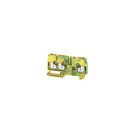 1991850000 Borne de tierra, PUSH IN, 6 mm², Verde/amarillo, A3C 6 PE
