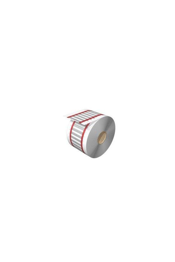 2437510000 Señalizadores para cables y conductores, 1 - 3.2 mm, 25.4 x 5.6 mm, blanco, HS 1.0-3.2/25 MM W