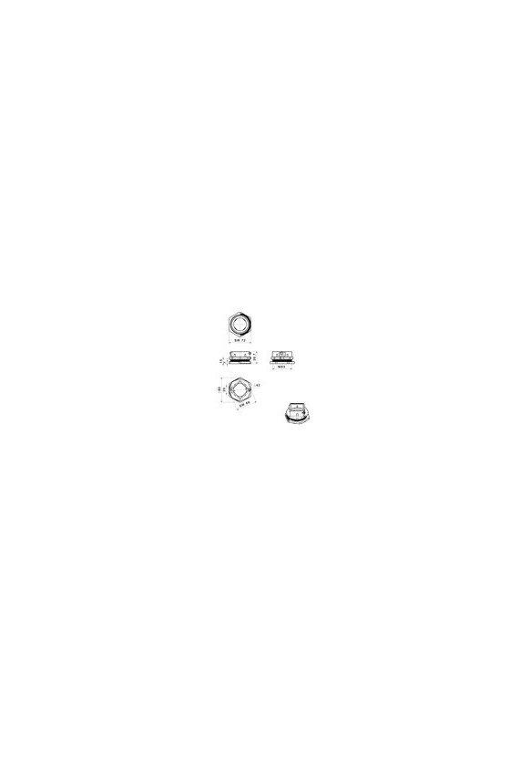 2584120000 Prensaestopas separable, Cabtite (sistema de paso de cables), Poliamida, CABTITE CGS M63 BK
