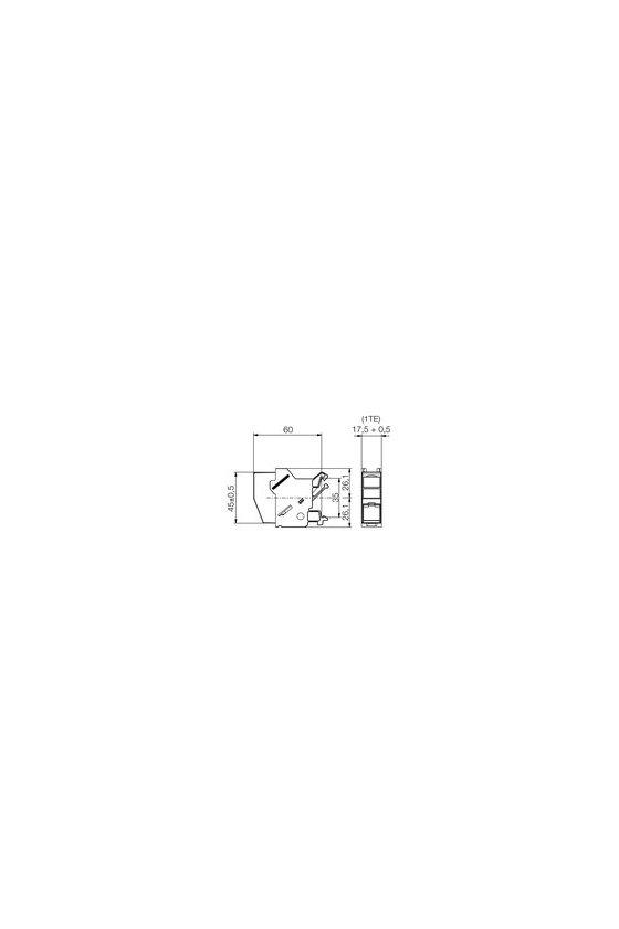 8808360000 Salida de carril RJ45, Módulo RJ45, IP20, Cat.6A / Class EA (ISO/IEC 11801 2010), IE-XM-RJ45/IDC