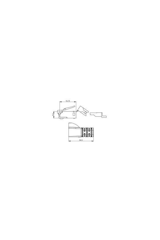 8813120000 Conector RJ45, con protección antidoblado IE-P70