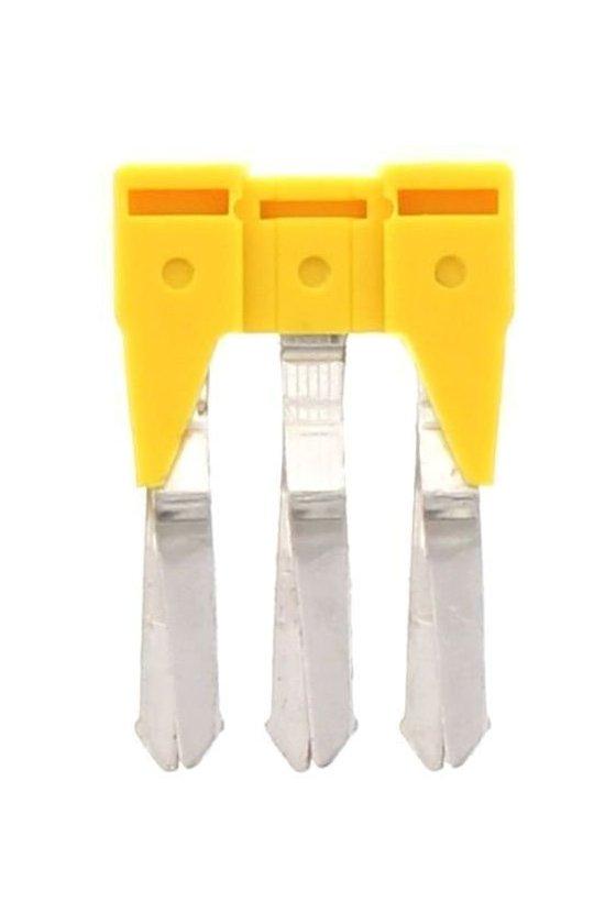17202.8  sqi 2,5/3 amarillo conector cruzado aislado