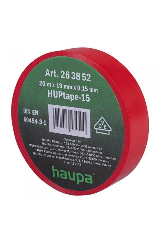 263852  cinta de aislar 19 mm x 20 m  rojo