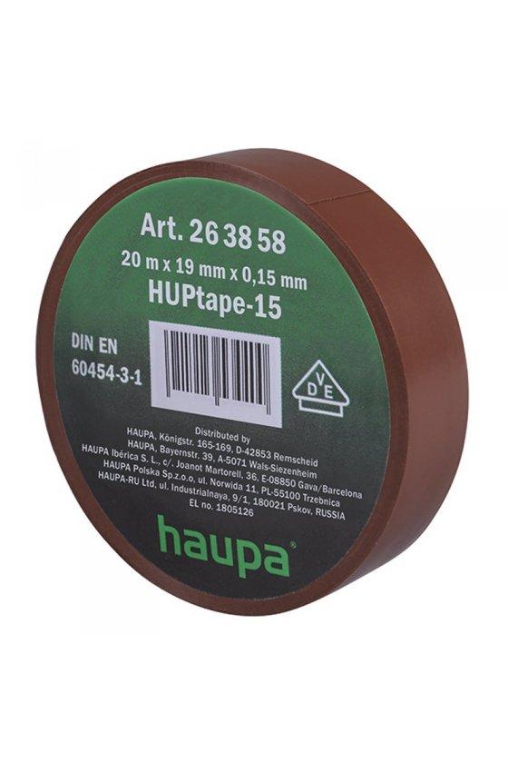 263858   cinta de aislar 19 mm x 20 m  marrón